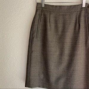 GIORGIO ARMANI pure wool vintage pencil skirt 40